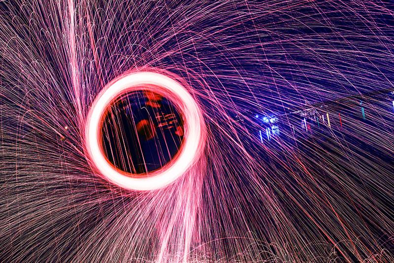 Foto Eines Feuerwerkskörpers