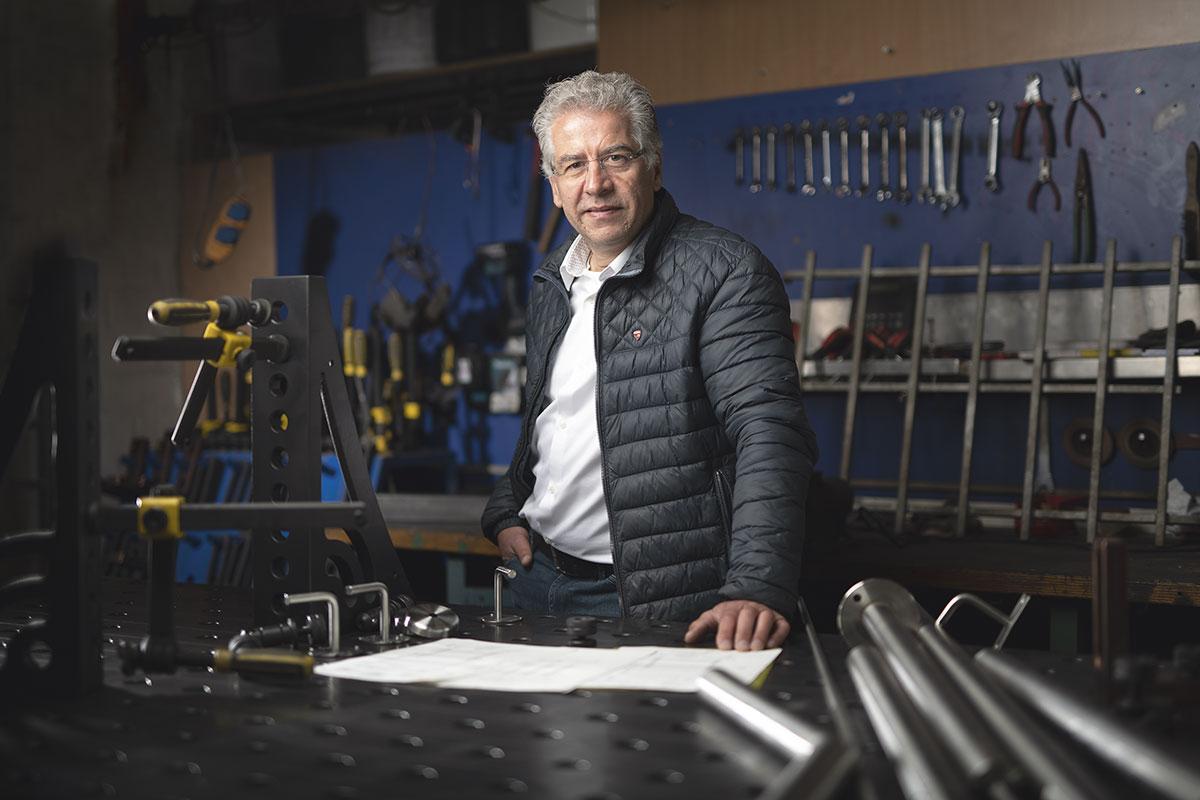 Mario Fritsche von der Bauschlosserei Fritsche aus Kiel